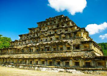 Site, pyramide, El Tajin, Veracruz, Golfe du Mexique