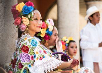 Femme Merida, Yucatan au Mexique