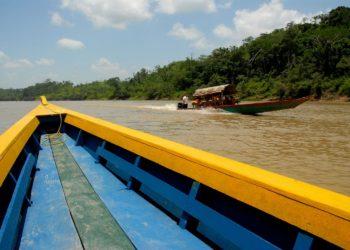 Lancha privada à Lacanja, Chiapas au Mexique