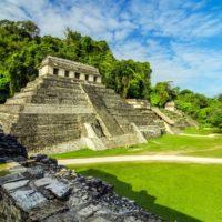 Palenque au Chiapas, pyramide, Mexique