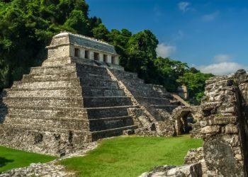 Site, pyramide de Palenque, Chiapas au Mexique
