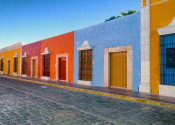 Ruelle colorée de Campeche, Yucatan au Mexique