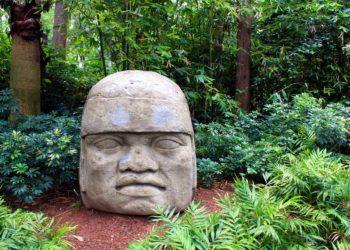Tête Olmec de Veracruz, Villahermosa, Golfe du Mexique