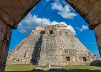 Site, pyramide de Uxmal, Yucatan au Mexique