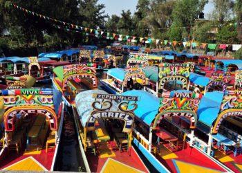 Lago Xochimilco Mexico, trajineras, colorés, bateau, barque, Mexico et ses alentours, Mexique