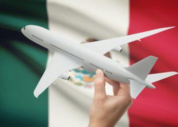 Depart Mexique avion, drapeau du Mexique, voyage, circuit sur-mesure - JPM Tours