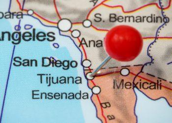 Carte du Mexique, lieu Tijuana