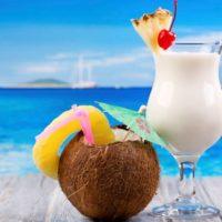 Cocktail en bord de mer, riviera maya, caraibes, Mexique