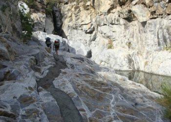 Canyon de Agua Caliente, Sierra Laguna, Nord du Mexique