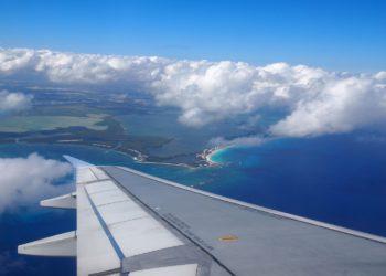 Arrivée aéroport baie de Cancun, avion, airplane, Mexique, vacances, circuits sur-mesure