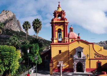 Village de Bernal, proche de Quérétaro, sur la route des saveurs, Mexique