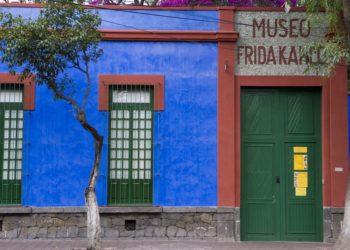 Musée de Frida Khalo, Mexico, Mexique, bleu, maison, casa