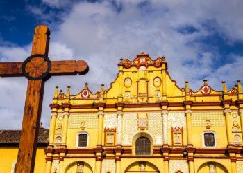 Cathédrale de San Cristobal de la Casas, ville colorée, Chiapas, Mexique
