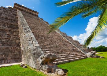 Pyramide, site de Chichen Itza, Yucatan, Mexique, site archéologique