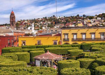 Jardin de la union à Guanajuato au Mexique