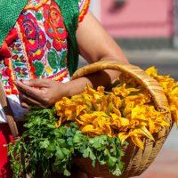 Oaxaca, artisanat, panier, femme, Mexique