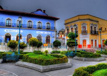 Ville de Real de Monte, ville coloniale, Mexique, couleurs