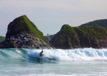 Mer, San Agustinillo, Surf, Oaxaca, Côte Pacifique, Mexique