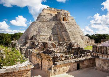 Site de Uxmal, pyramide, Yucatan au Mexique