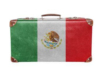 Valise depart Mexique, drapeau du Mexique, circuit sur-mesure, voyage
