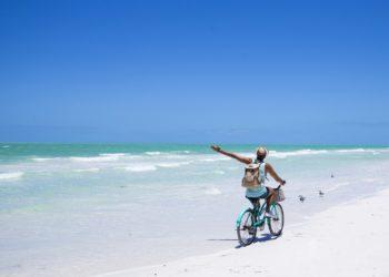 Activité vélo sur Isla Holbox, Yucatan, Mexique
