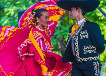 Danseurs mexicains à Guadalajara, traditions, Mexique, couleurs